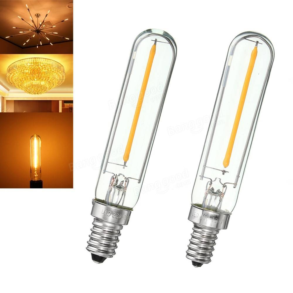 e12 e14 t120 1w 100lm dimmable vintage cob led edison filament light bulb