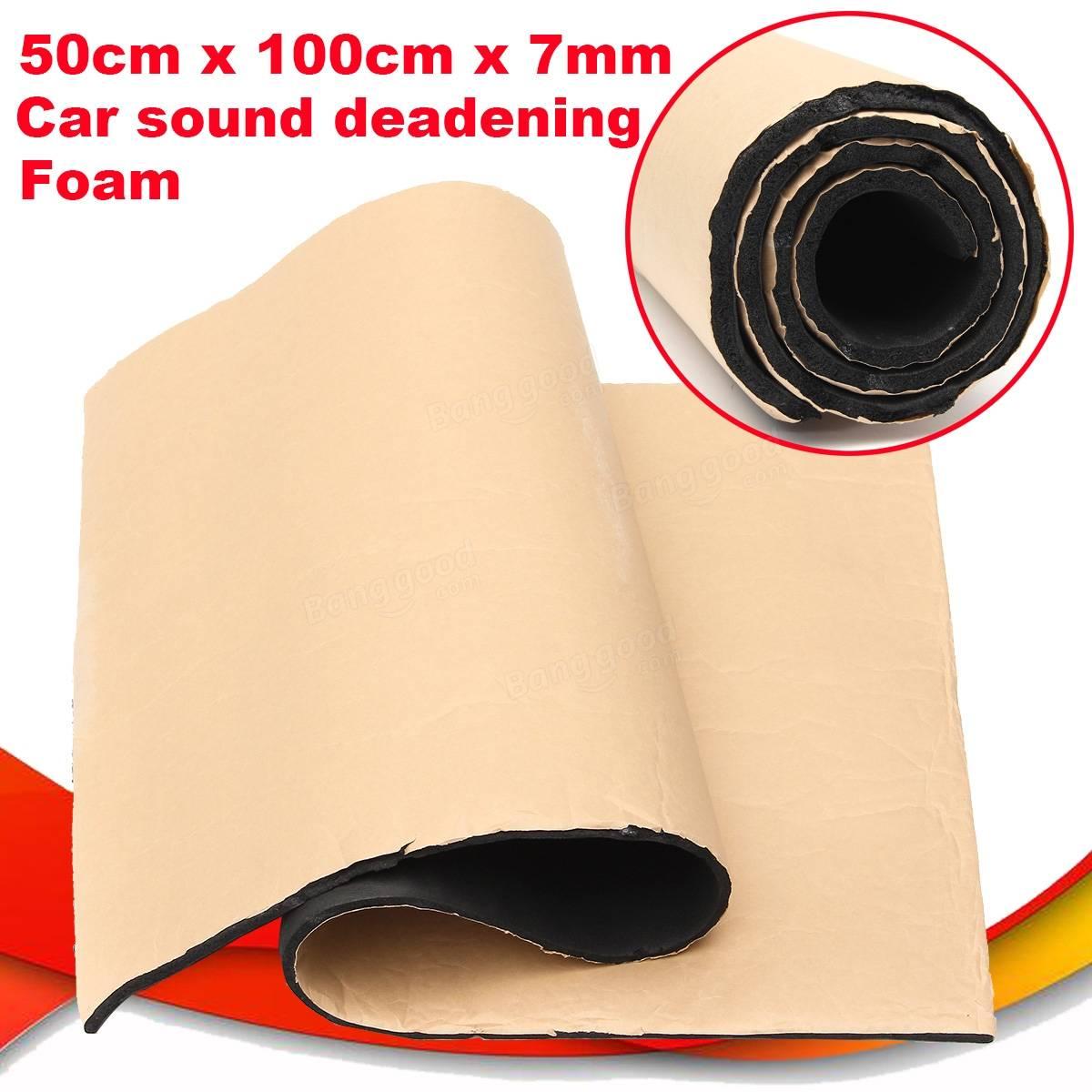 2roll 7mm car sound proofing deadening insulation closed cell foam 50x100cm sale. Black Bedroom Furniture Sets. Home Design Ideas