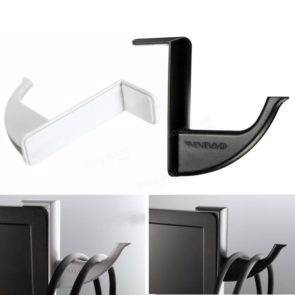 Universal Headphone Headset Earphone Holder Hanger Wall PC Monitor Stand