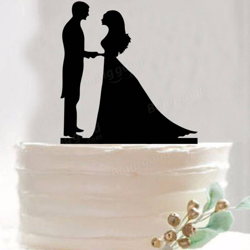 Bride Wedding Cake Topper: Bride Groom Wedding Cake Topper Happy Birthday Party Cake