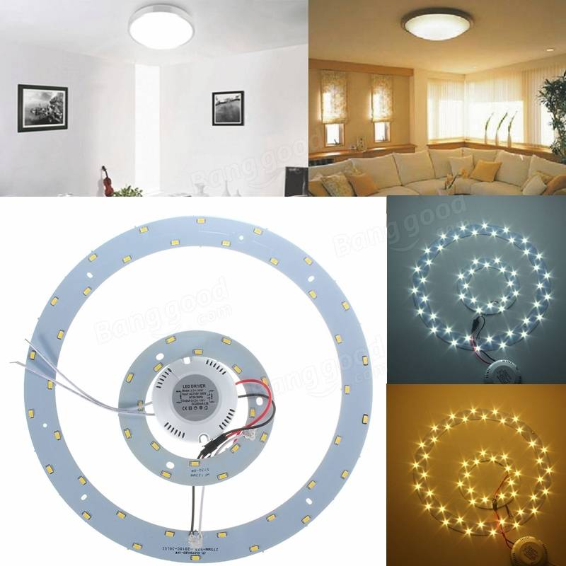 Shop Project Source 13 In W Bronze Integrated Led Ceiling: 25W 5730 SMD LED Double Panel Circles Annular Ceiling