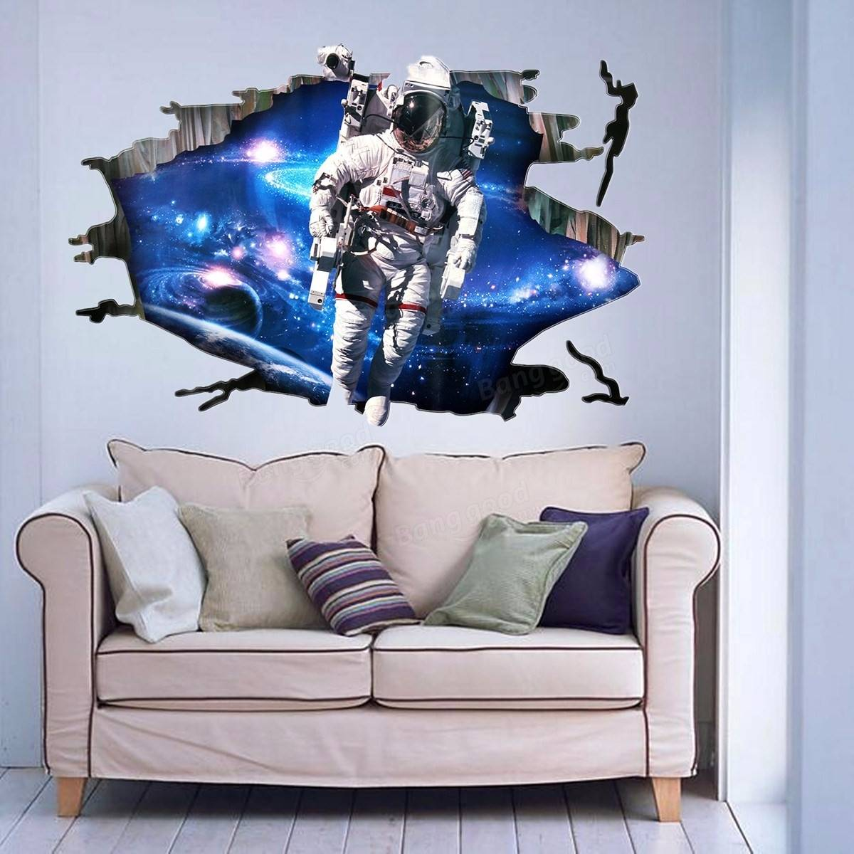 3d wall stickers wallpaper space astronauts decor kids room decal 3d wall stickers wallpaper space astronauts decor kids room decal art gifts amipublicfo Image collections
