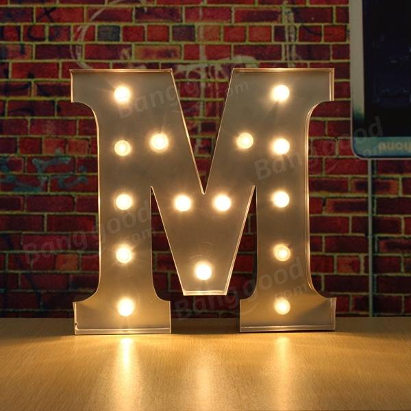 marquee lighting diy. vintage metal led light diy letter a to m sign carnival wall marquee decoration lighting diy