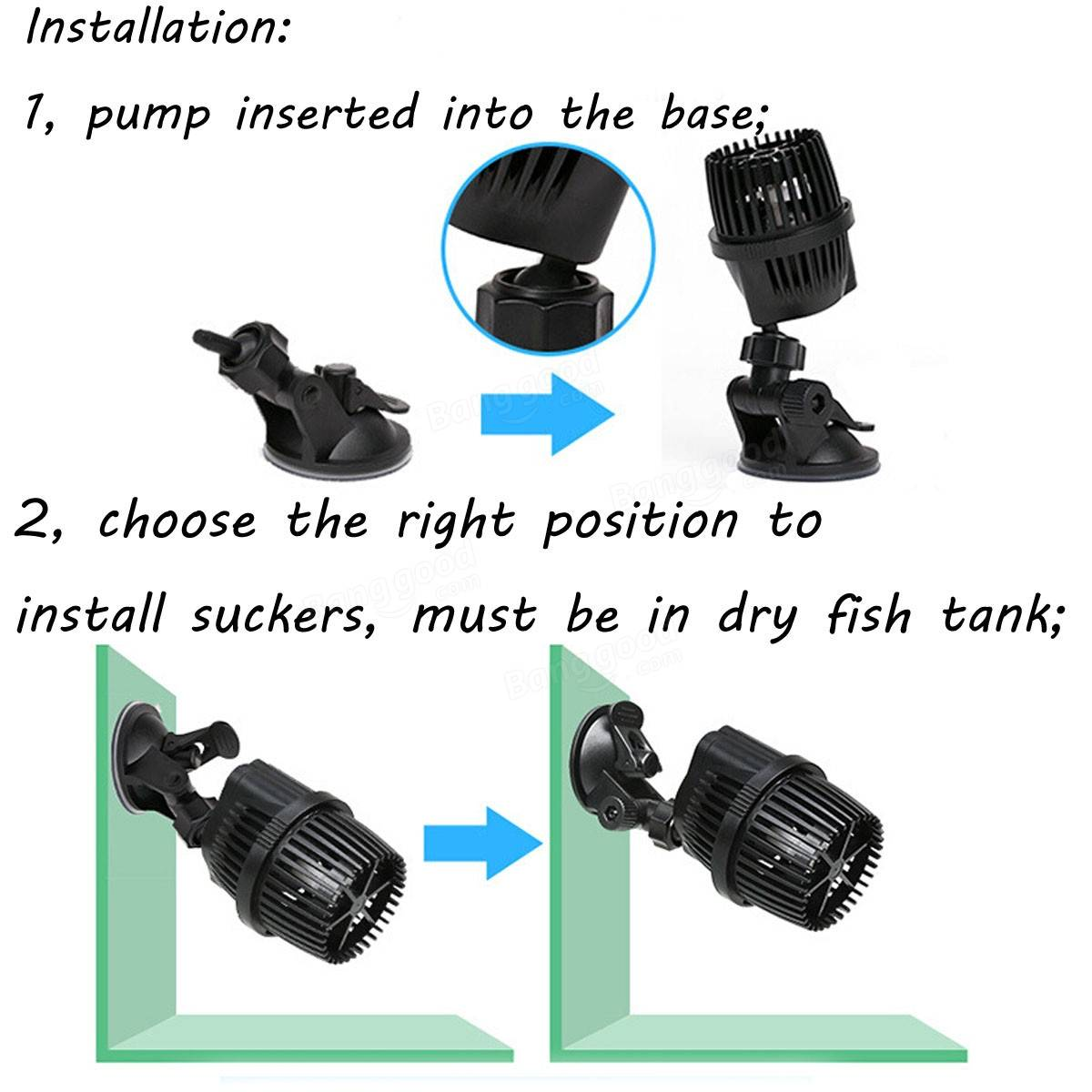 Aquarium fish tank wavemaker - 220v Aquarium Fish Tank Wave Maker Waving Pump 5000 10000 20000lph
