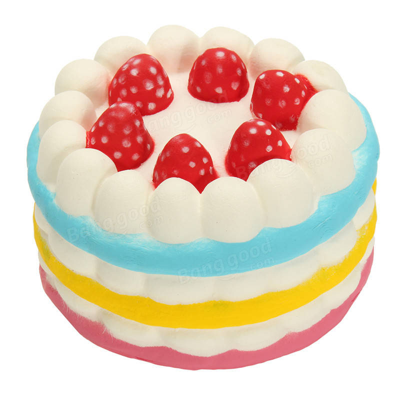 Cake squishy buy cheap cake squishy from banggood jumbo squishy rainbow strawberry birthday cream cake super slow rising scented toy fandeluxe Choice Image