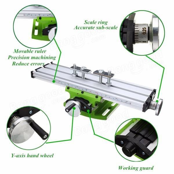 HILDA BG6300 Mini Precision Milling Machine Worktable Multifunction Drill Vise Fixture Working Table