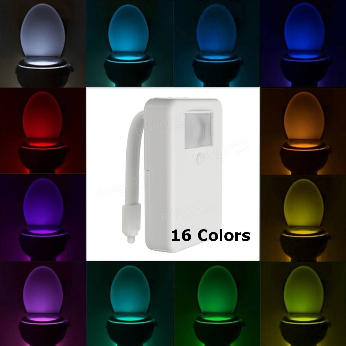 16 Color Motion Activated LED Toilet Sensor Night Light Bowl Bathroom L& : night light for bathroom - azcodes.com
