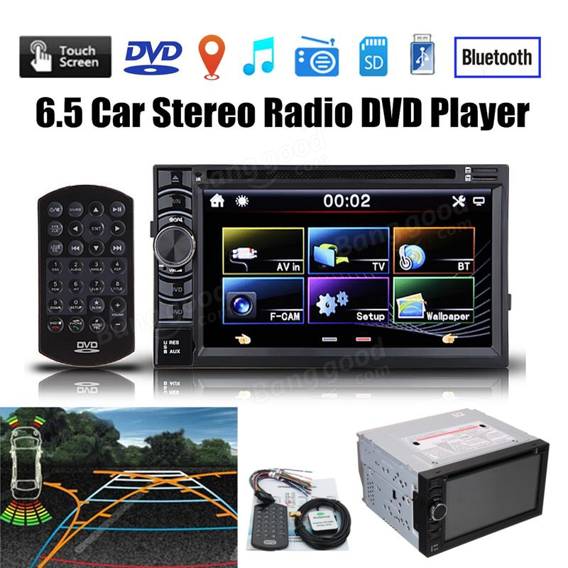 6 5 pouces double 2din in dash gps lecteur dvd voiture bluetooth radio st r o automatique vente. Black Bedroom Furniture Sets. Home Design Ideas