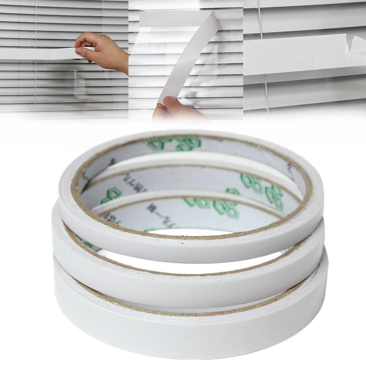 Double sided craft tape - 9m Roll Transparent Clear Double Sided Self Adhesive Tape For Craft Packaging