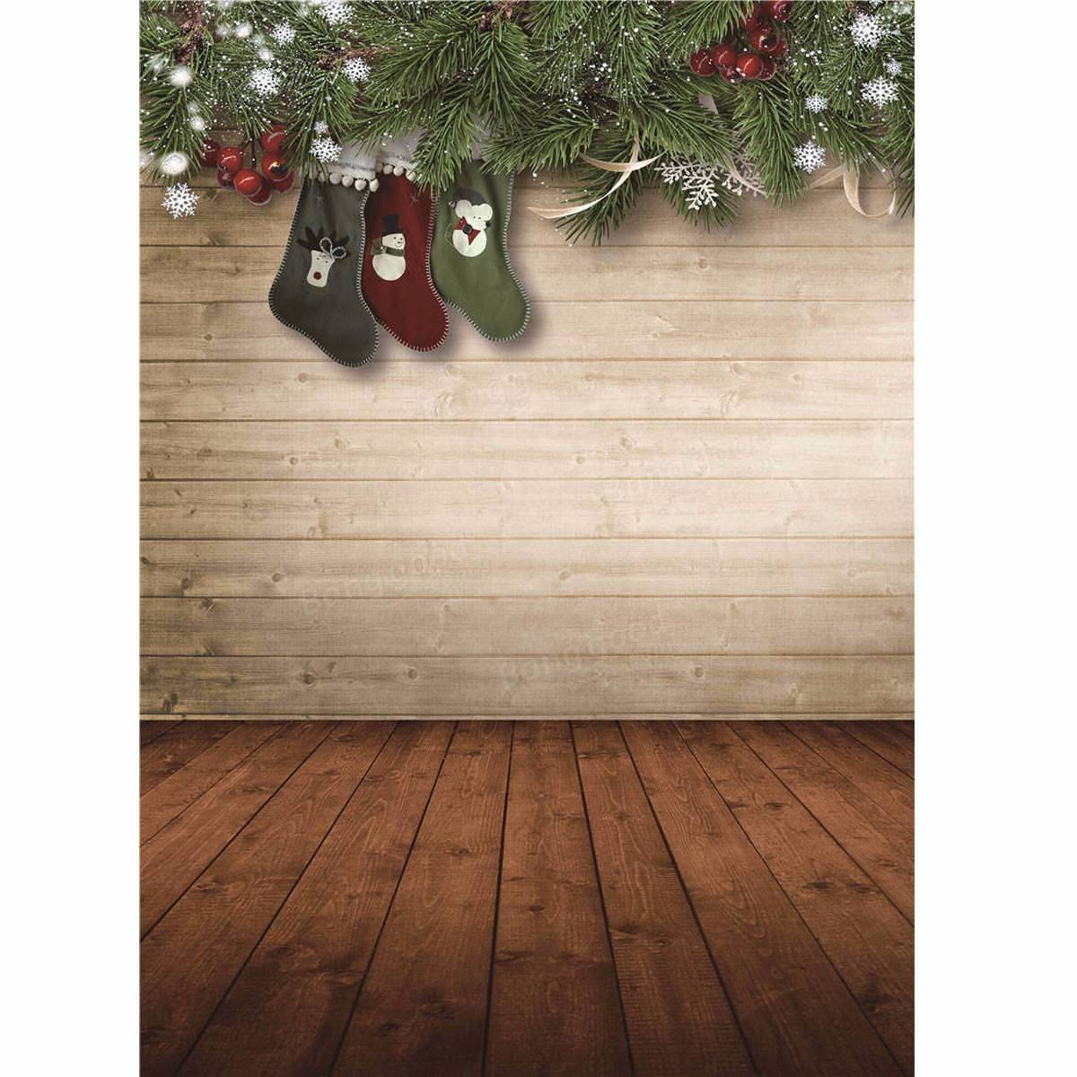 5x7ft christmas socks vinyl background backdrop. Black Bedroom Furniture Sets. Home Design Ideas