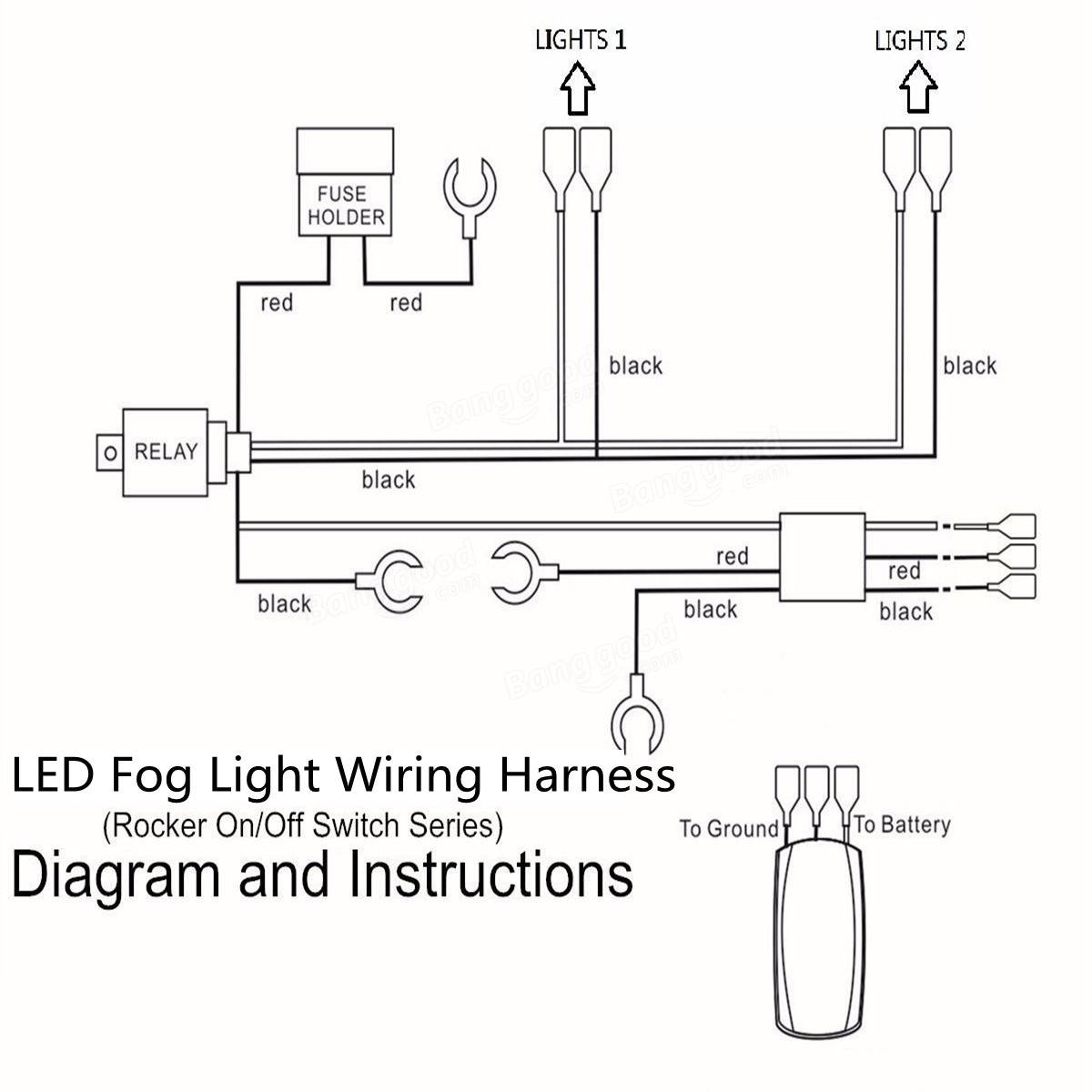 led light bar wiring harness diagram diagram stream Reverse Light Wiring Diagram Fog Light Relay Wiring Diagram