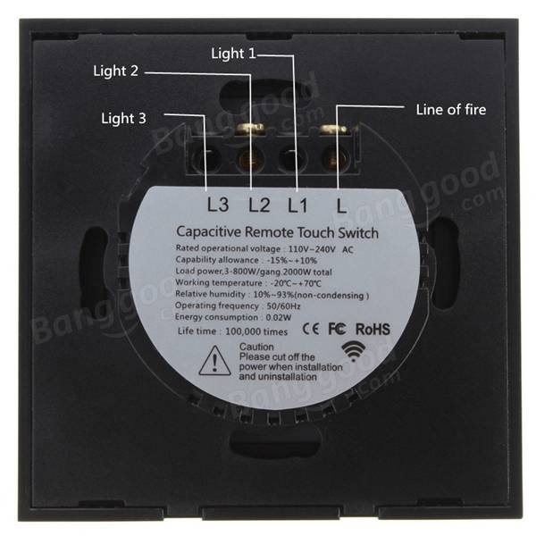 1 Gang 1 Way Touch Wall Light Switch Glass with Remote Control1 Gang 1 Way Touch Wall Light Switch Glass with Remote Control  . Remote Control Outdoor Light Switch 1 Gang. Home Design Ideas