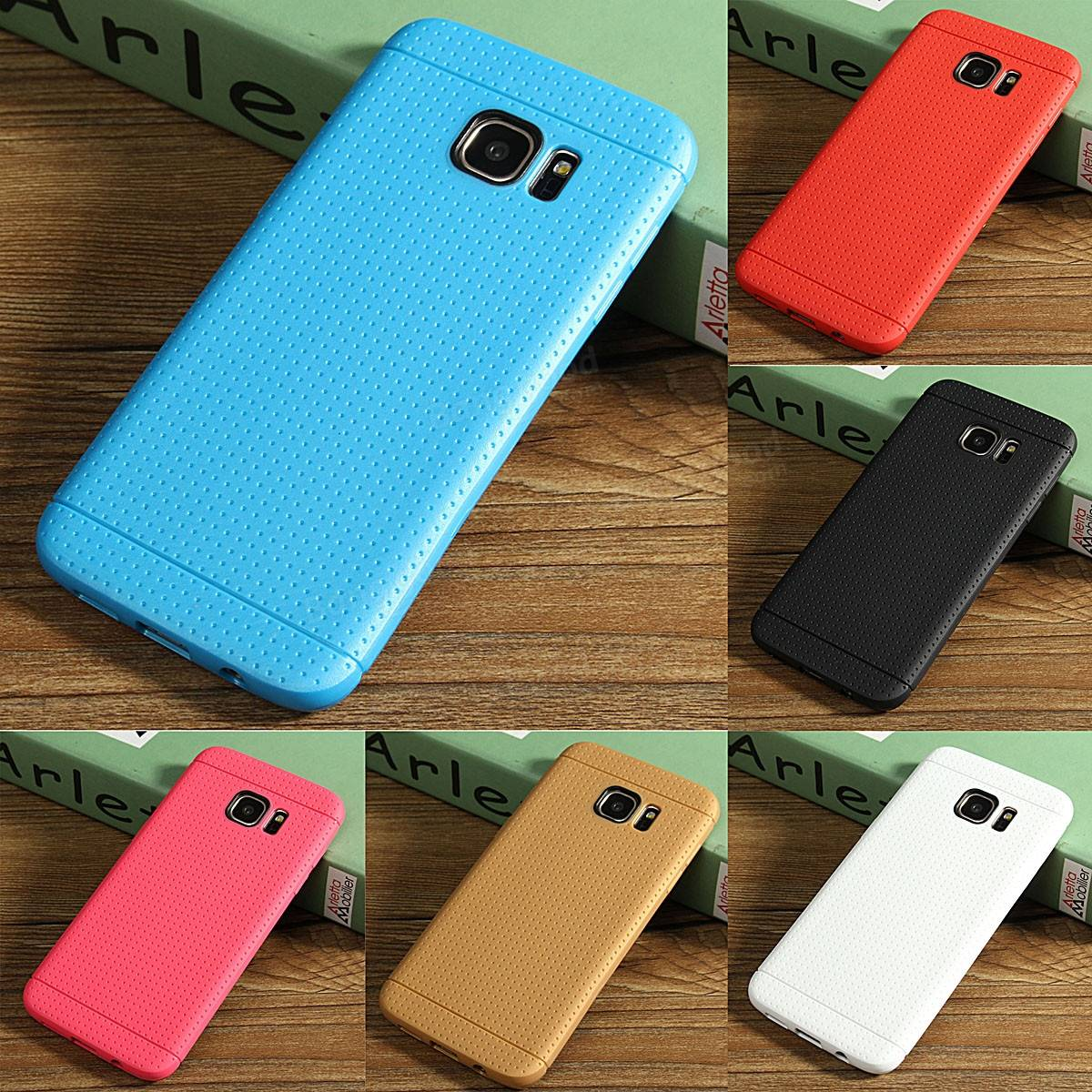 Silicone Durable Soft TPU Gel Case Cover For Samsung Galaxy S7 Edge