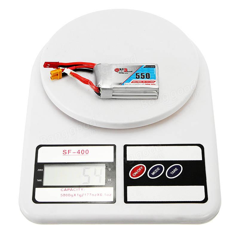 Gaoneng GNB 11.1V 550mAh 80/160C 3S Lipo Battery JST/XT30 Plug For Eachine Lizard95 FPV Racer