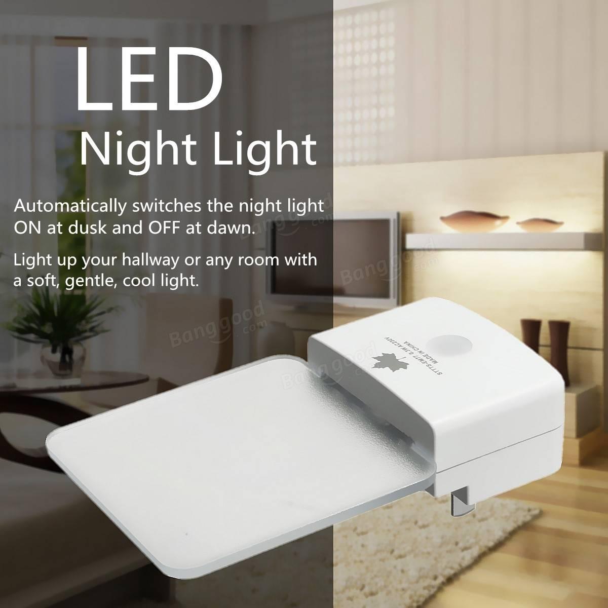 Automatic led energy saving night lamp - Ac220v 0 5w Led Night Light Plug In Socket Auto Sensor Energy Saving White