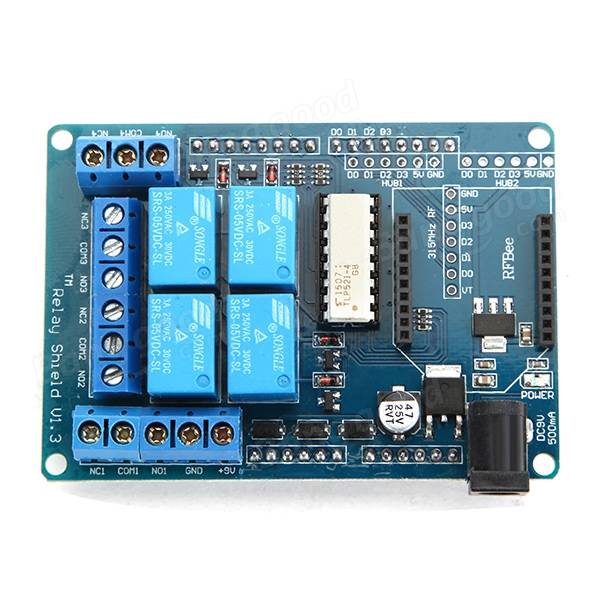 5v Four Channel Relay Shield V1 3 Expansion Module Board