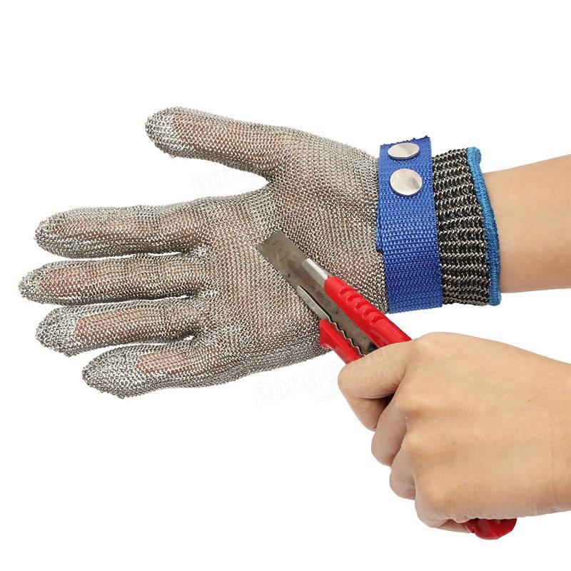 Proteção contra corte de segurança Resistência à Stab Stainless Steel Metal Mesh Nível 5 Proteção Butcher Glove