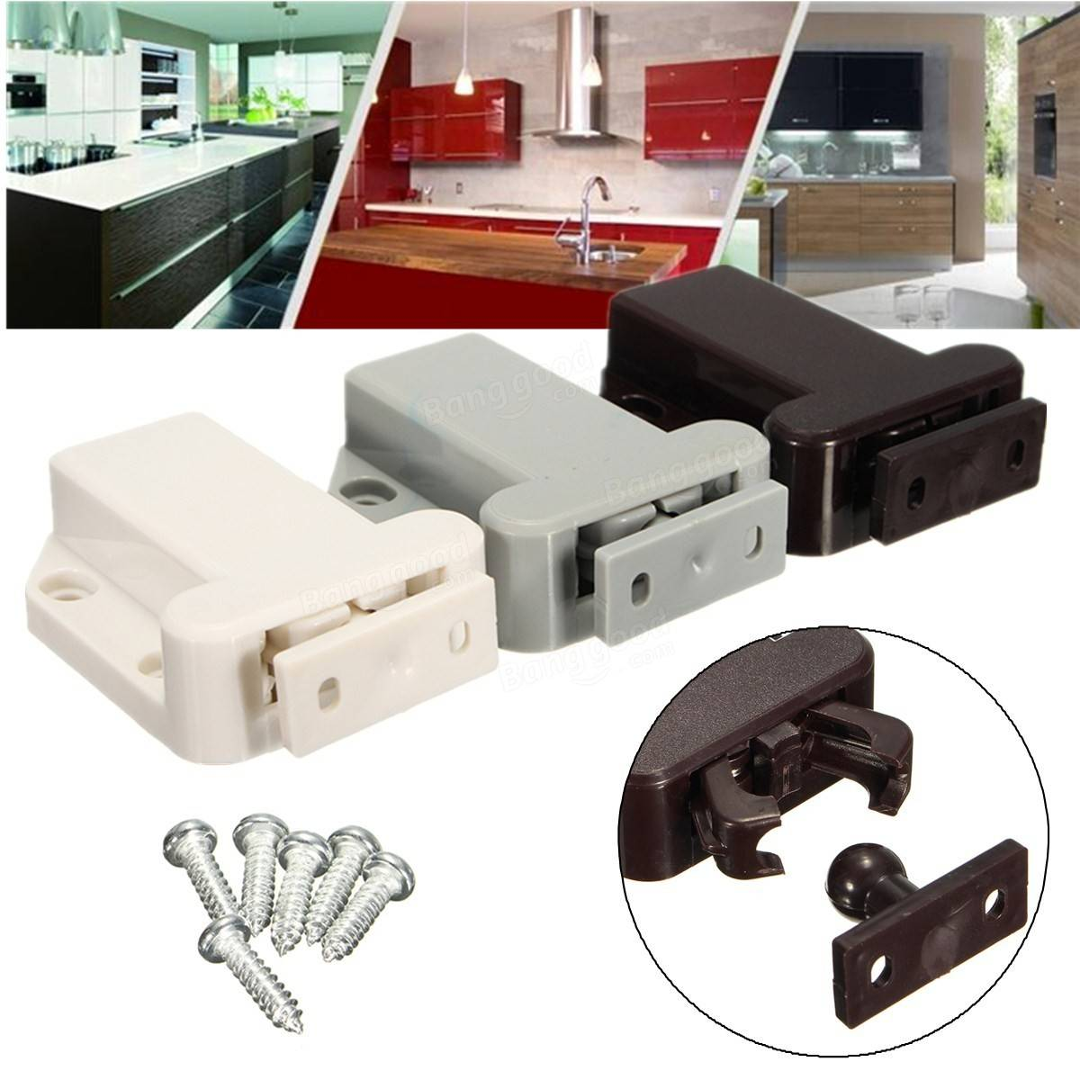 push to open beetles lock drawer cabinet latch catch touch. Black Bedroom Furniture Sets. Home Design Ideas
