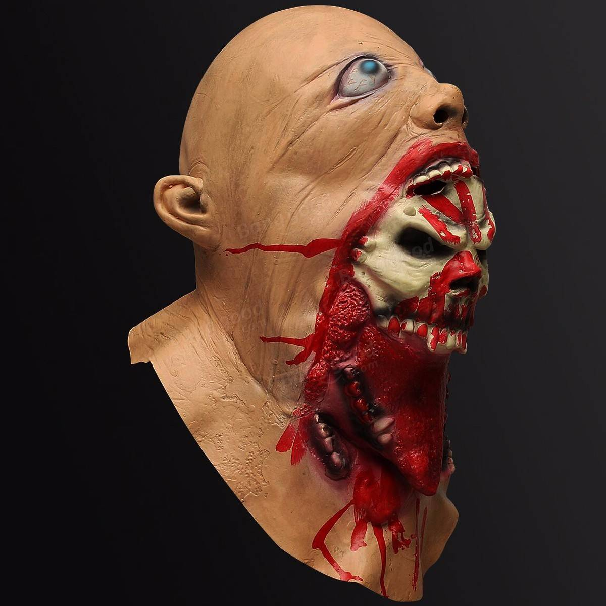 Halloween Latex Bloody Mask Zombie Face Melting Costume Party Prop ...