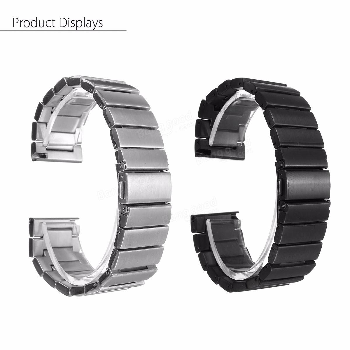 stainless steel metal watch band strap bracelet for samsung gear s3 frontier sale. Black Bedroom Furniture Sets. Home Design Ideas