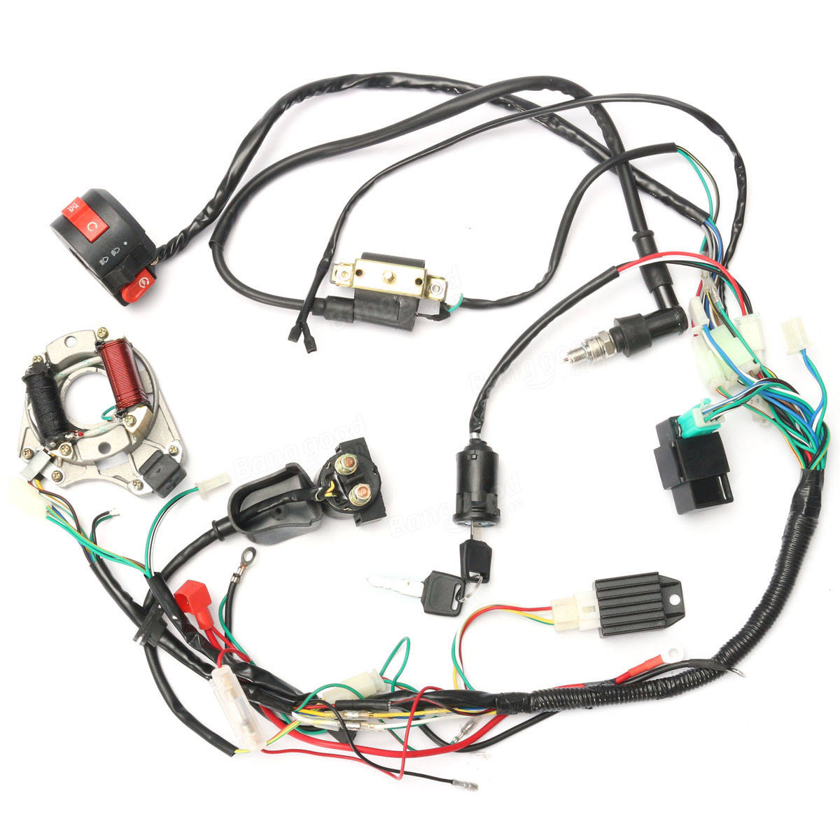 50cc 70cc 90cc 110cc Cdi Wire Harness Assembly Wiring Kit