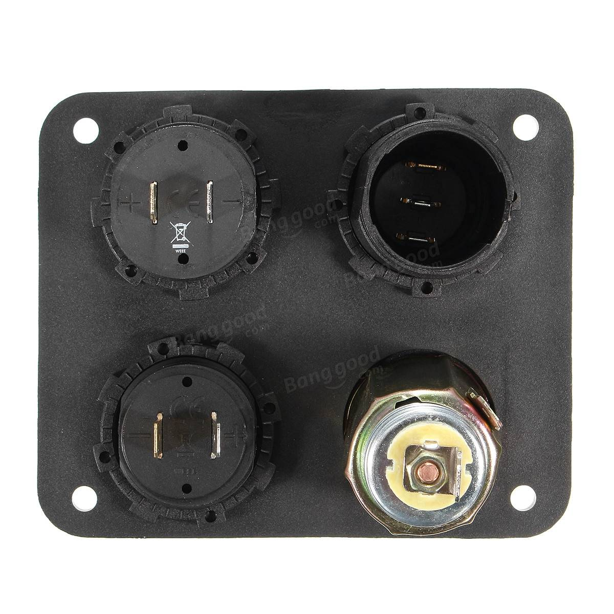 fb825a02 6711 4959 87d8 af0d23700f75 4 hole panel switch marine boat auto rv 12v power socket volt  at creativeand.co