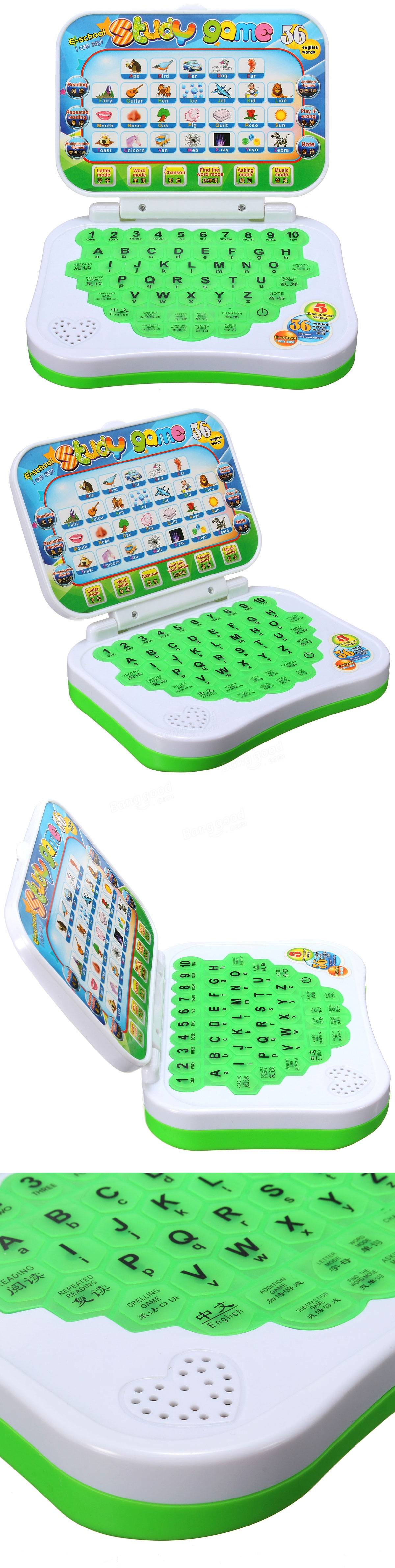 Mini PC Baby Kids Toys Study Game Intellectual Learning Keyboard