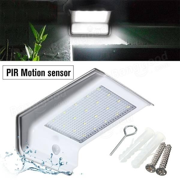 waterproof 20 led solar power pir motion sensor light outdoor security lamp