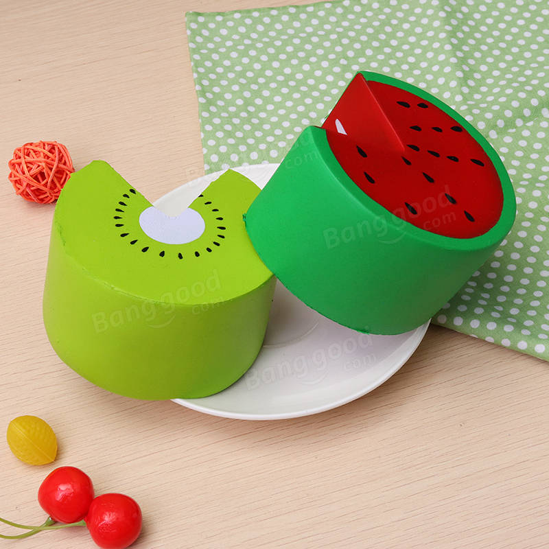 Squishy Watermelon : SanQi Elan Squishy Watermelon Kiwi Fruit Cake Slow Rising 12s With Packaging Collection Gift ...