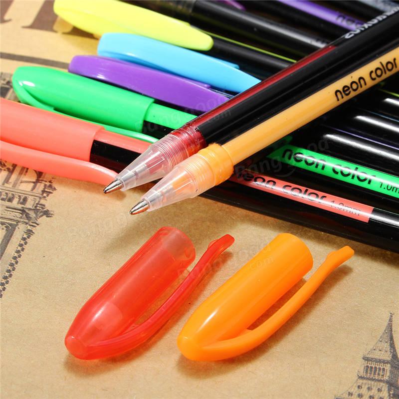36 Colors Gel Pen Set Adult Coloring Book Ink Pens Drawing ...