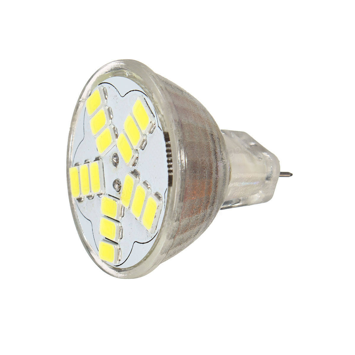 MR11 GU4 7W 600LM LED Bulb Lamp 15 5630 SMD Warm White Pure White For Ceiling Lights AC 12V