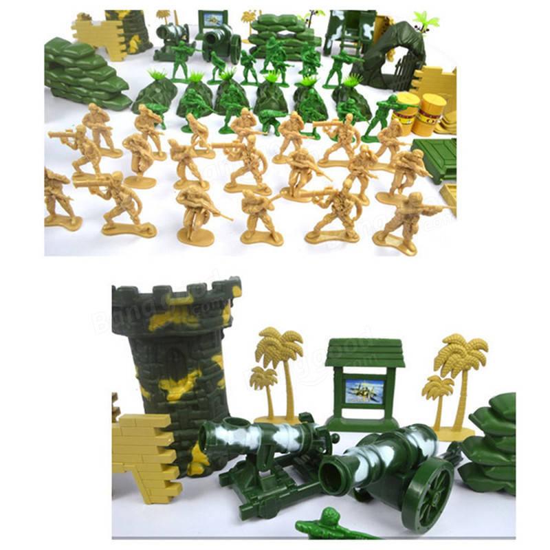 100pcs / Set Plastic Military Model Soldiers Figures Scene Toy Kid Children Gift