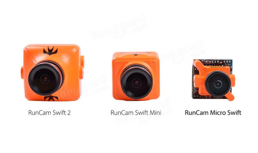 RunCam Micro Swift 600TVL 2.1mm/2.3mm IR Blocked 1/3 CCD FPV Camera PAL/NTSC 5.6g