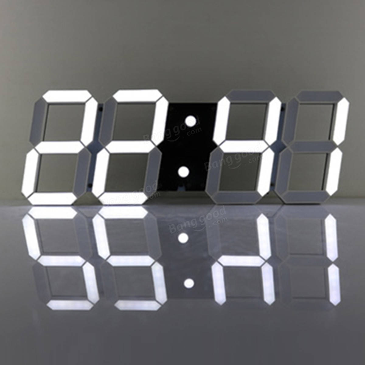 3d acrylic white large digital led skeleton wall clock timer 2412 3d acrylic white large digital led skeleton wall clock timer 2412 hour display amipublicfo Images