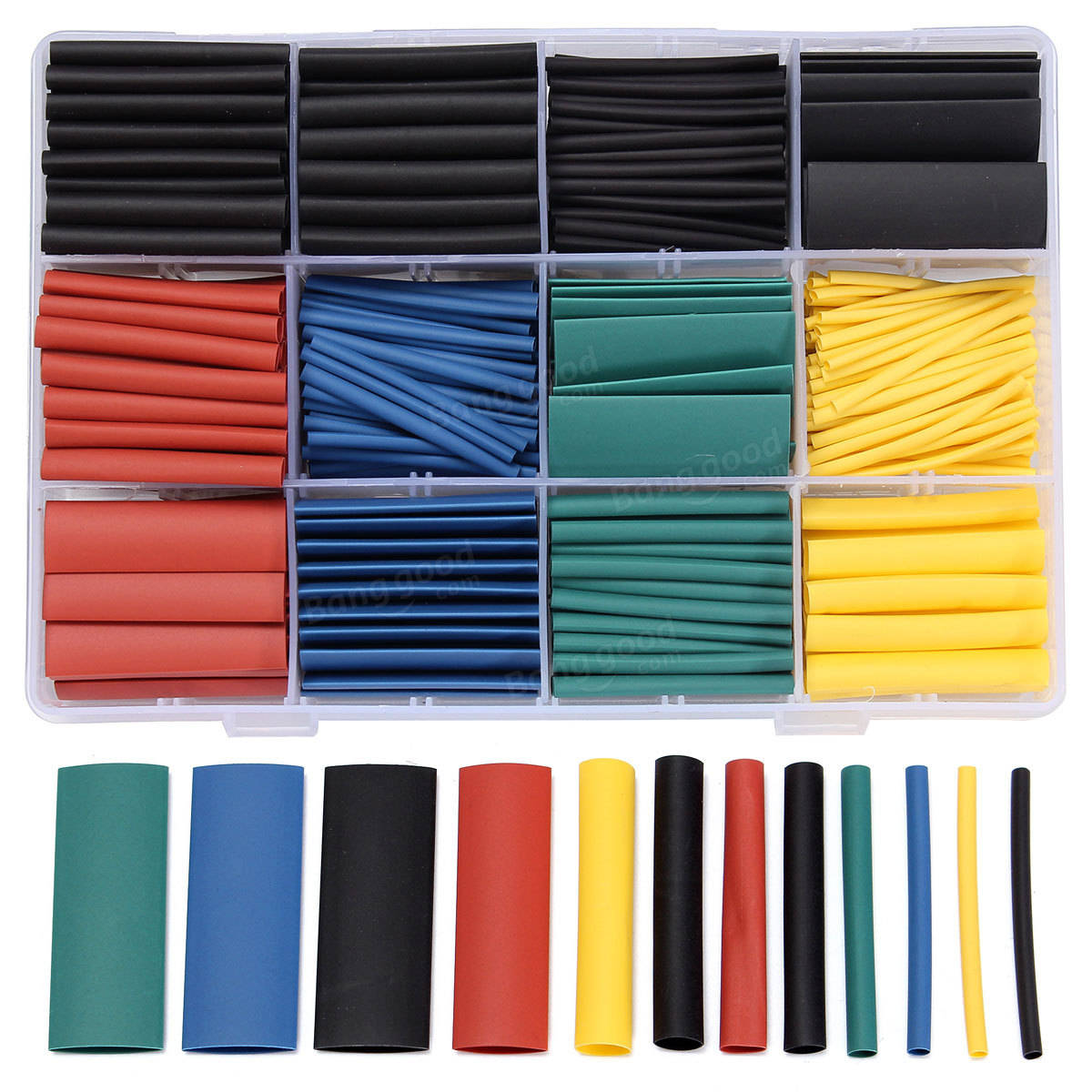 530 pcs halogenfree 21 heat shrink tubing wire cable sleeving wrap wire