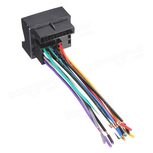 2006 Vw Jetta Stereo Wiring Harness : Car stereo radio player wire harness adapter plug for vw