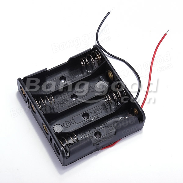 1.5V 4 X AA Battery Case Box Storage Holder With Leads For Arduino