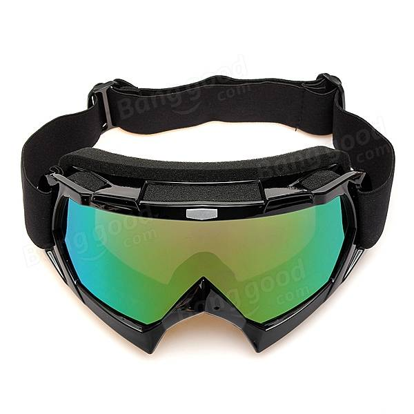 Motorcycle Atv Dirt Bike Goggles Eyewear Clear Single Len