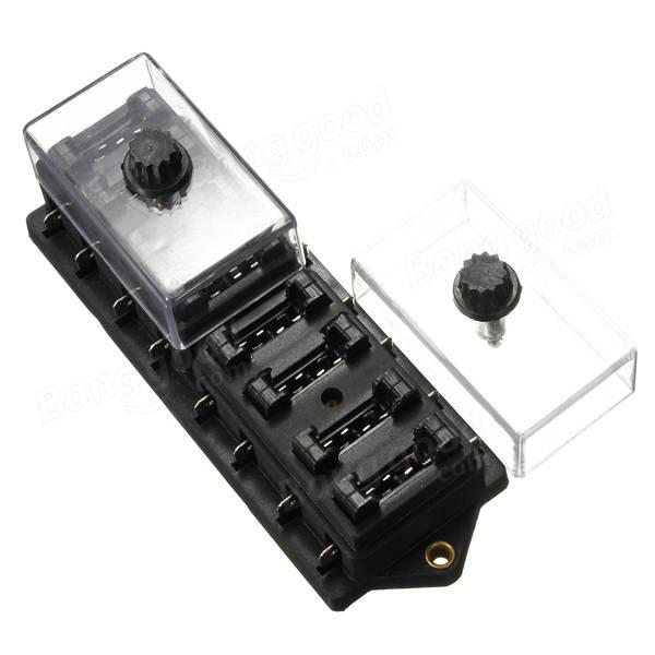 12v 8 way car truck automotive blade fuse box holder
