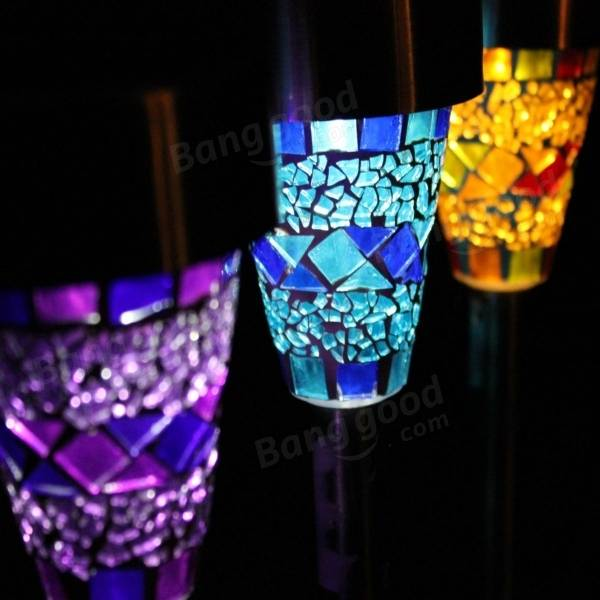 Charming Mosaic Solar Lights Part - 1: Solar Power Mosaic LED Garden Light Solar Energy Outdoor Lamp For Lawn