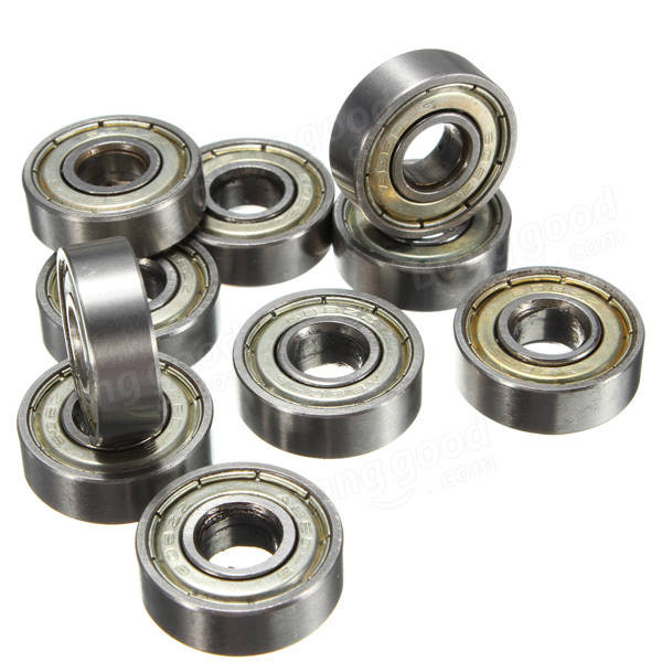 roller ball bearing. 10pcs skateboard groove roller blade ball bearings wheels silver bearing
