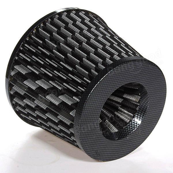 universelle finition carbone filtre air de voiture maille c ne 76mm vente. Black Bedroom Furniture Sets. Home Design Ideas