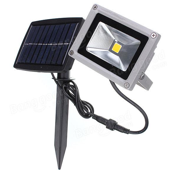 High Quality 10W Solar Power LED Flood Light Waterproof Outdoor Landscape Spotlight