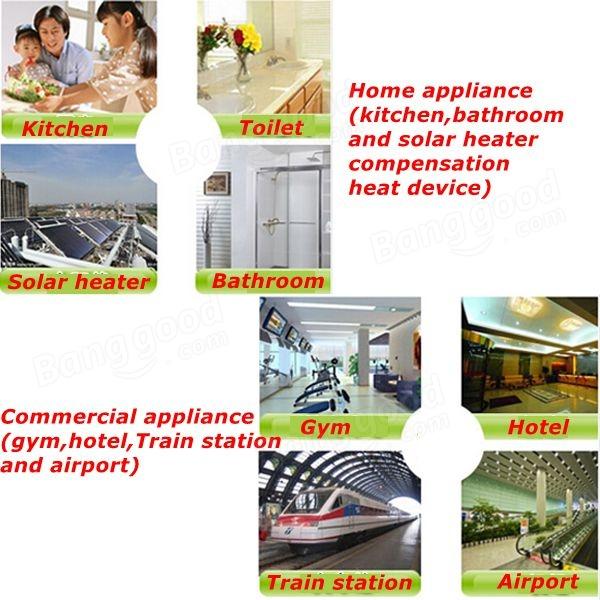 220v 3400w elektro durchlauferhitzer küche warmwasserspeicher ... - Durchlauferhitzer 220v Küche