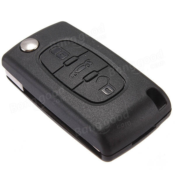 3 button flip key fob case shell for citroen c2 c3 c4 c5 c6 sale. Black Bedroom Furniture Sets. Home Design Ideas