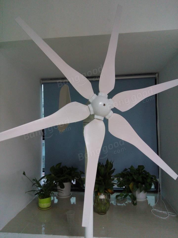 High efficiency 300w wind turbine generator acdc 12v24v 6 blades aloadofball Choice Image