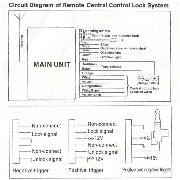 SKU270637 4 universal car remote control central kit door lock locking keyless Pressure Control Switch Wiring Diagram at gsmportal.co