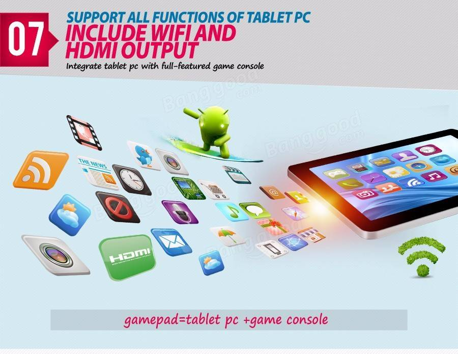 Original Box GPD Q9 16GB RK3288 Quad Core 7 Inch Android 4.4.4 Tablet GamePad