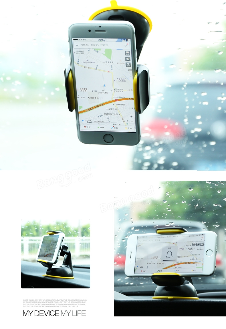 RM-C06 360 Degrees Rotating Car Holder Shockproof Anti-slipping Stand Bracket For iPhone