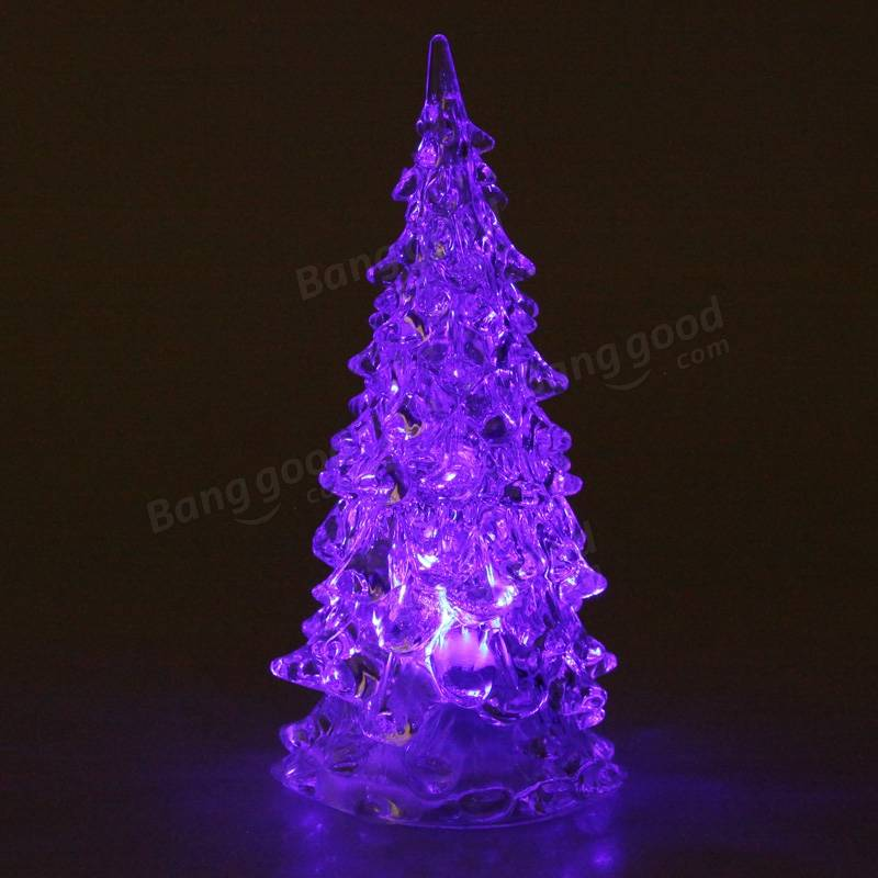 Crystal Led Christmas Xmas Tree Home Decoration 7 Colors Changing